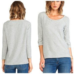 JAMES PERSE USA Cotton Lightweight Striped Sweater